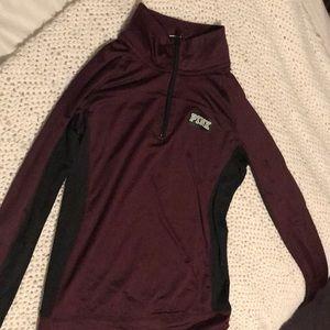 PINK maroon 1/4 zip pullover